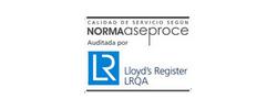 Calidad de servicio según norma ASEPROCE auditada por Lloyd´s Register LRQA